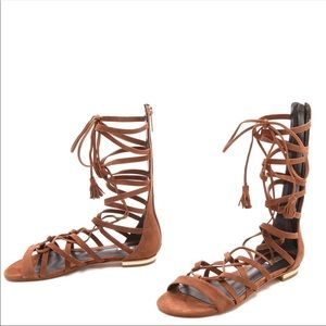 Schutz Bills suede gladiator sandal